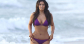 Kim Kardashian's body looking great following workout